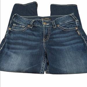 Silver jeans Suki mid Capri size 29